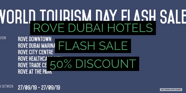 Rove Dubai Hotels Flash Sale