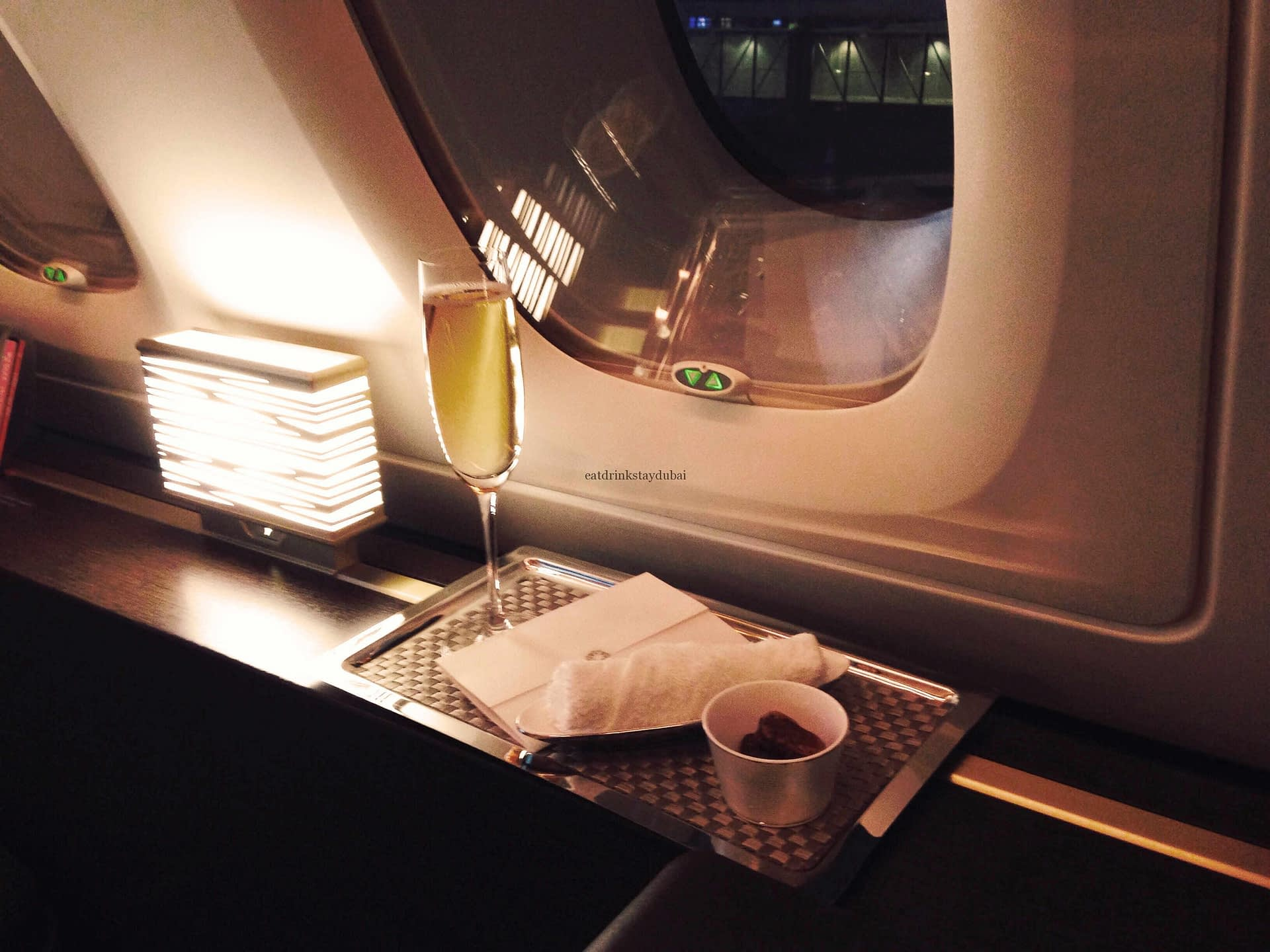 Etihad A380 First Class Apartment: Champagne