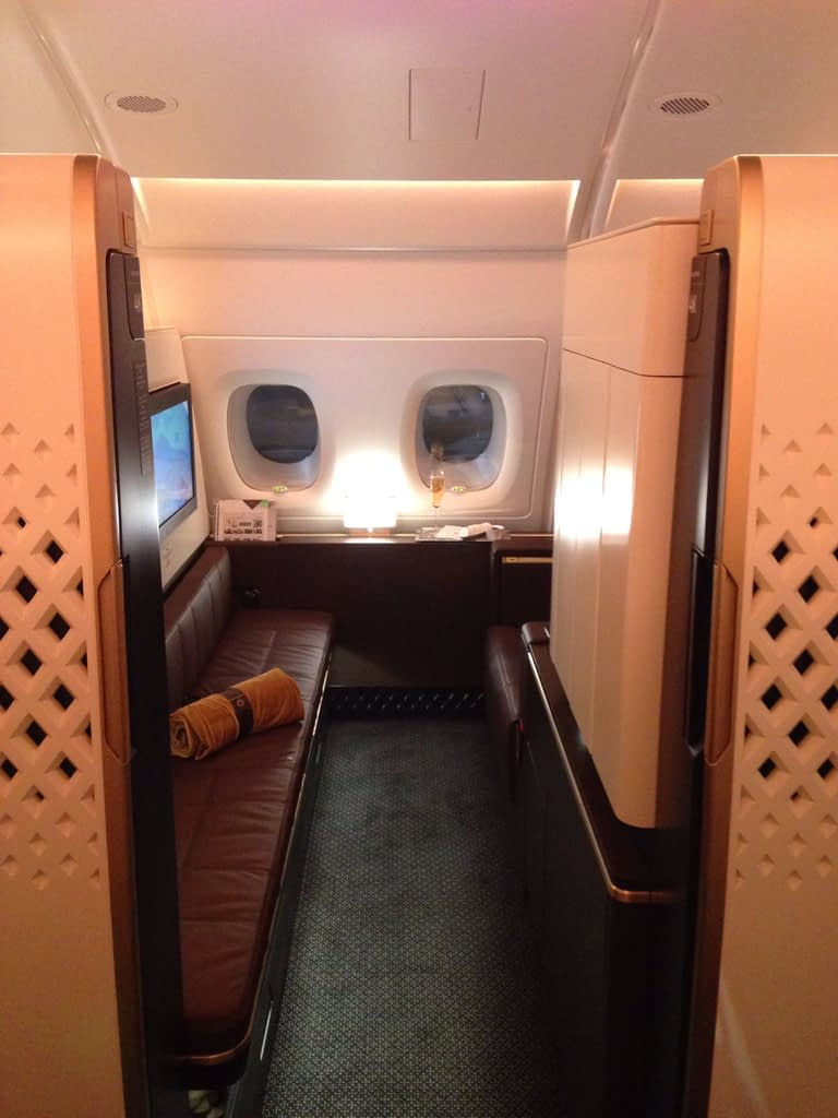 Etihad A380 First Class Apartment available on Etihad Guest or American Airlines AAdvantage airline loyalty program