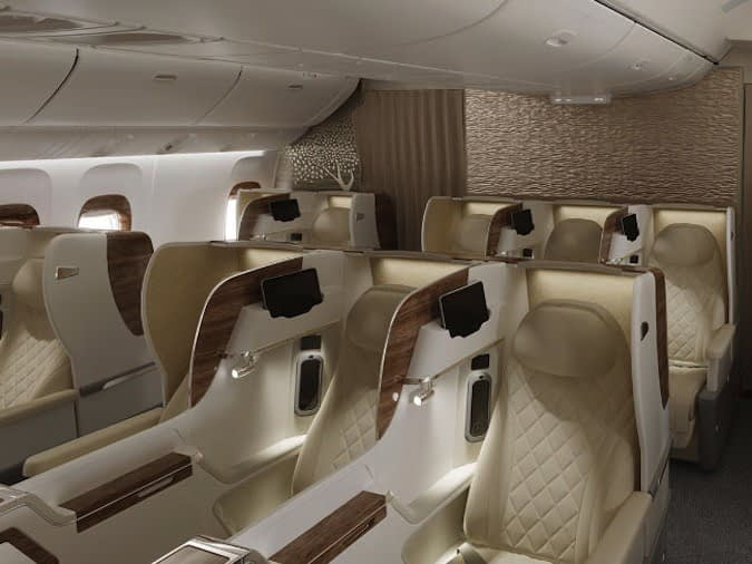 Emirates Airlines First Class: new 777 Business Class