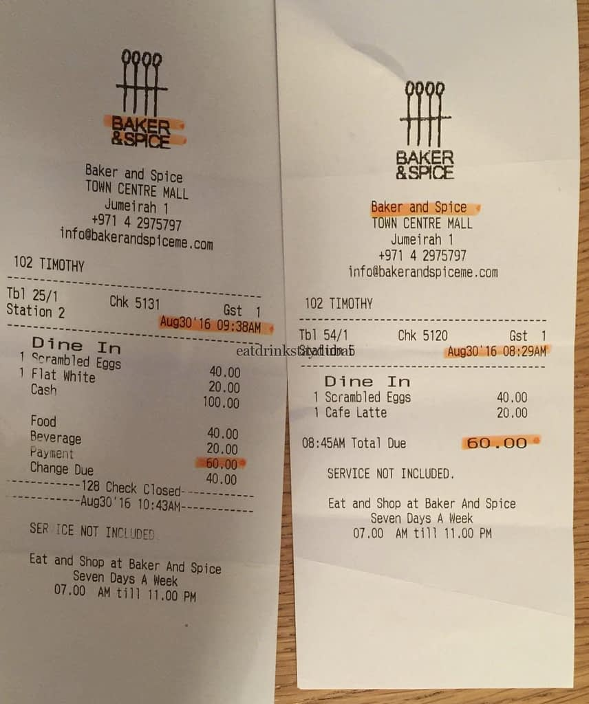 Baker and Spice Dubai_receipt