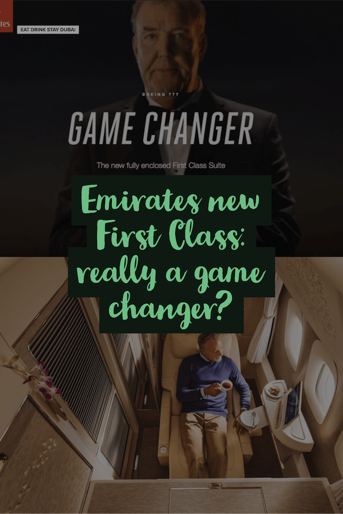 Emirates Airlines First Class: really a game changer?